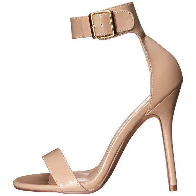 pleaser AMUSE-10 beige sandalen high heels maat 35 - 36