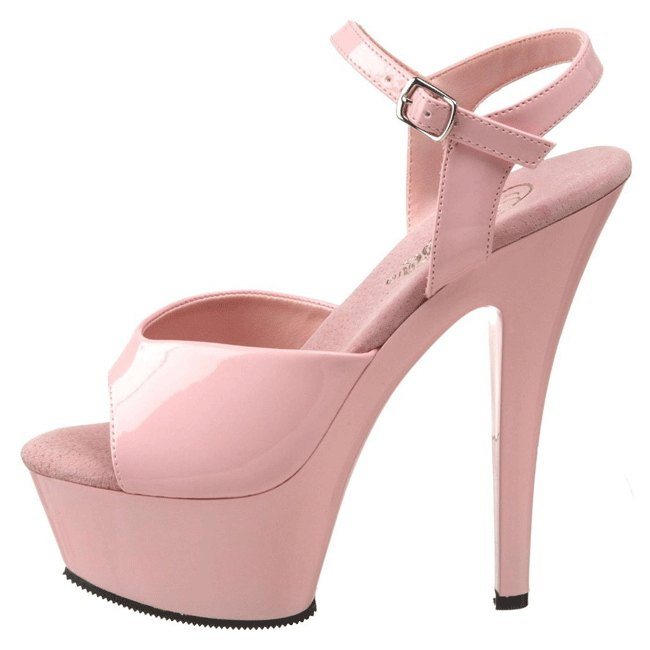 pleaser KISS-209 pink dames high heels maat 35 - 36