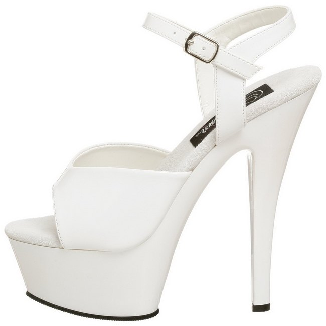 pleaser KISS-209 witte high heels nederland maat 38 - 39